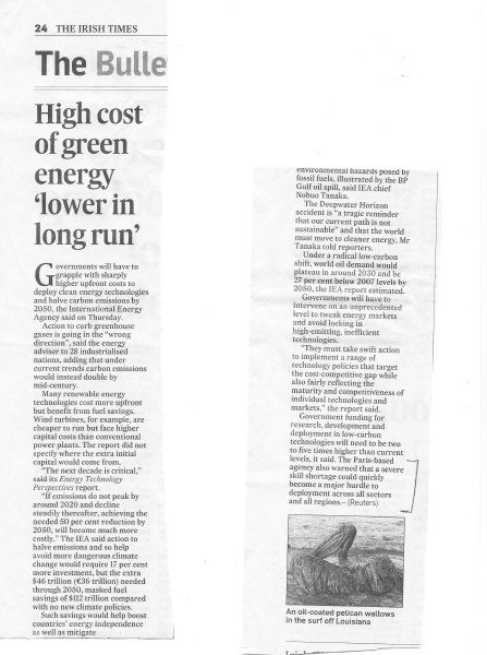 IS the High Cost of Re-Energy  Worth it ?