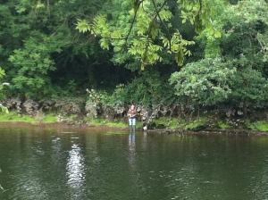 Fishing on Blackwater - at Dogpool.